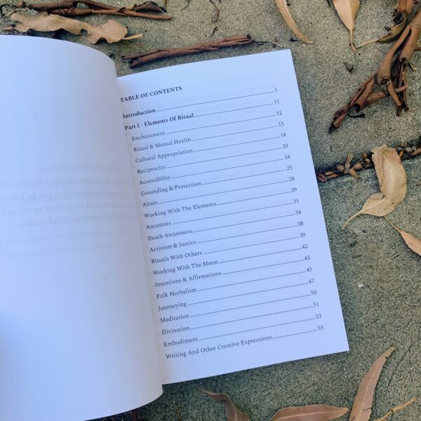 Rituals by Yarrow Magdalena contents