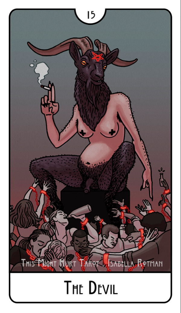 This Might Hurt Tarot Devil