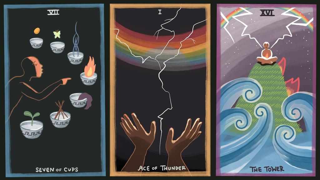 Gentle Tarot Seven of Cups Ace of Thunder The Tower Australia