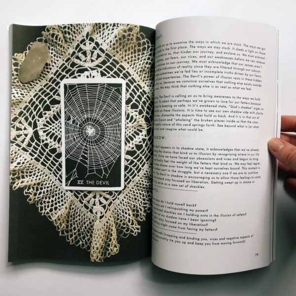 Pages from the Nomad Tarot Guidebook