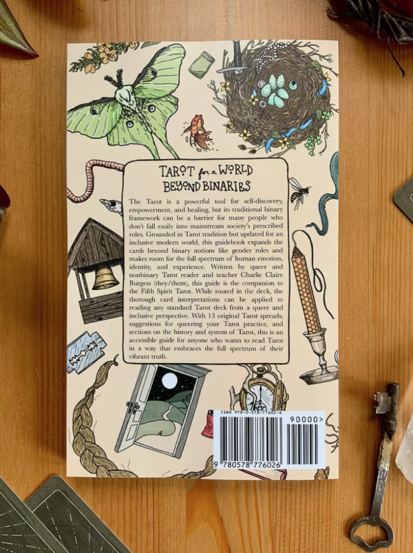 Back cover of the Fifth Spirit Tarot Guide
